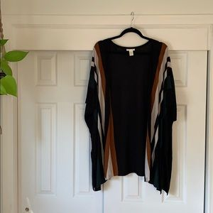 H&M poncho with open front